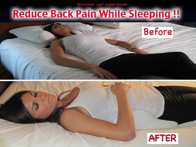Back Level tm. Spinal support pillow